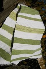 Úžitkový textil - Olivovo-biely koberec - 5975287_