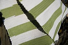 Úžitkový textil - Olivovo-biely koberec - 5975289_