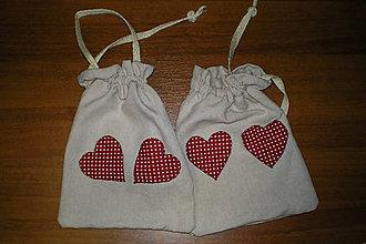 Úžitkový textil - Vrecká so srdiečkami - 5980128_