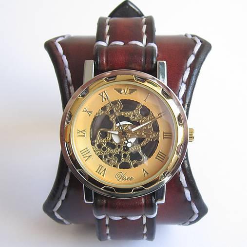 338e09414 Pánske steampunk kožené hodinky hnedé / leon - SAShE.sk - Handmade ...