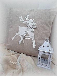 Úžitkový textil - Vianočná obliečka sob II. - 5979391_
