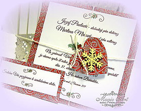 """Papiernictvo - Svadobné oznámenie """"Vôňa lásky na Vianoce..."""" - 5976626_"""