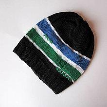 Detské čiapky - ZĽAVA z 7,50 - Pásikovaná čiapočka - 5977831_