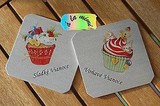 """Pomôcky - Vianočný set podložiek pod pohár """"Muffinky špeciál"""" - 5982153_"""