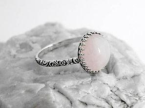 Prstene - Strieborný prsteň s růženínom Rozzi - 5980525_