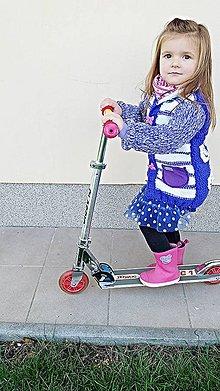 Detské oblečenie - Svetrík na jeseň - fialový - 5981568_