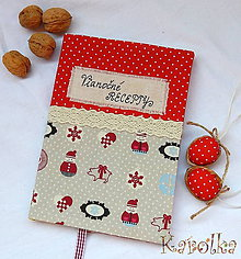 Papiernictvo - Receptár / zápisník - Vianočné dobroty (3) - 5982238_