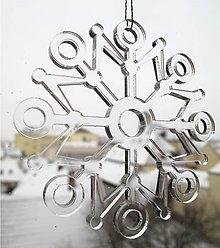 Dekorácie - Ľadová vianočná vločka 2 - 5982612_