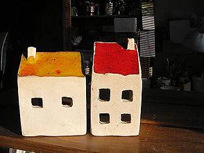 Svietidlá a sviečky - domček - svietnik - 5982841_