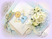 Papiernictvo - Modrý anjelik... - 5982963_