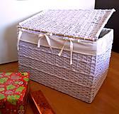 Košíky - Truhlica biela - 5981687_