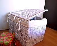 Košíky - Truhlica biela - 5981688_