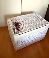 Košíky - Truhlica biela - 5981702_