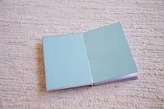 Papiernictvo - Látkový zápisník s kalendárovými predelmi - 5985371_