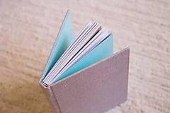 Papiernictvo - Látkový zápisník s kalendárovými predelmi - 5985376_