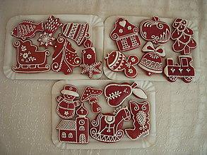 Dekorácie - sada vianočných medovníkov - 5985950_