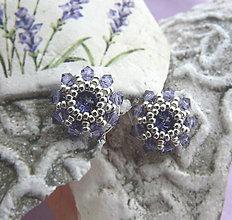 Náušnice - Čo zostalo z levanduľového kvetináča... - 5984968_