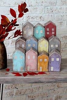 Dekorácie - Drevené domčeky OLD TOWN No1. - 5985753_