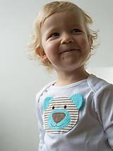 Detské oblečenie - body MACÍK (dlhý/krátky rukáv) - 5987526_