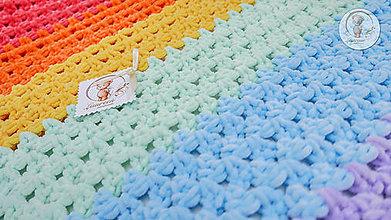 Textil - Detská deka rainbow - 5987567_