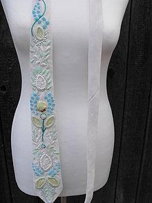 Doplnky - kravata vyšívaná - 50% - 5985693_