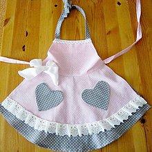 Detské oblečenie - Bodkovaná zástera pre najmenšie kuchárky - 5985050_