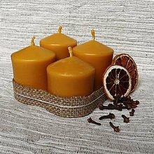 Svietidlá a sviečky - Adventné sviečky z včelieho vosku - 5988233_