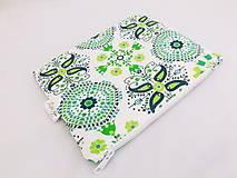 Taštičky - Taštička zelené ornamenty - 5989137_