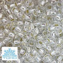 Korálky - TOHO rokajl (Round 2mm) Silver-lined crystal - 5989917_