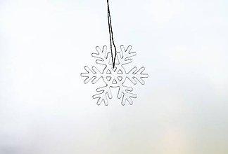 Dekorácie - Ľadová vianočná vločka mini 1 - 5991181_