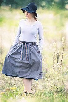 Sukne - Sukňa s variabilným pásom - modrá - 5990542_