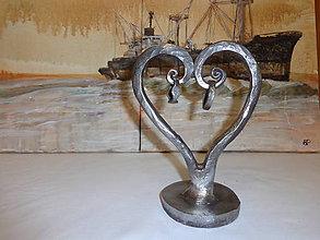 Dekorácie - Kované srdce - 5989505_