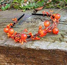 Ozdoby do vlasov - Oranžové bobuľky - 5991338_
