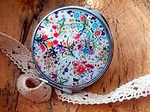 Zrkadielka - Zrkadielko kabelkové s kvetmi - 5990855_