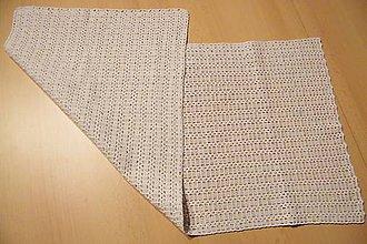 Úžitkový textil - Háčkovaný béžový obrus - 5990899_