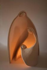 Svietidlá a sviečky - Prišlo k nám Svetlo Sveta - keramický svietnik - Betlehem - 5992157_