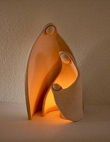 Svietidlá a sviečky - Prišlo k nám Svetlo Sveta - keramický svietnik - Betlehem - 5992477_