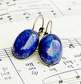 Lapis Lazuli & Bronze Earrings