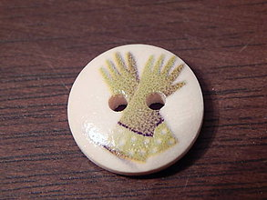 Galantéria - Gombík drevený 15mm - pre záhradkárov - rukavice - 5993267_