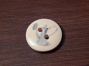 Galantéria - Gombík drevený 15mm - pre záhradkárov - krhlička - 5993368_