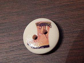 Galantéria - Gombík drevený 15mm - pre záhradkárov - čižmy - 5993374_