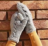 Rukavice - Najvyrukavičkovanejšie palčiaky šedivé - AKCIA 10 - 5992122_