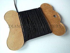 Galantéria - Shamballa šnúrka saténová čierna 1,5 mm - 5995270_