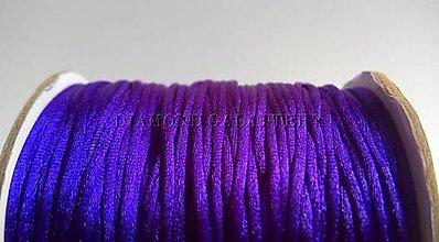 Galantéria - Shamballa šnúrka saténová 1,5 mm - tmavo fialová - 5995382_