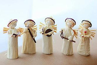 Dekorácie - Sada anjelikov na stromček - 5994840_
