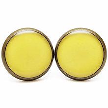 Náušnice - Farby Jari 2013 - Lemon Zest - Citrónová kôra - 5991578_