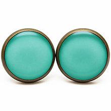Náušnice - Farby Jari 2013 & Farba Roka - Emerald - Smaragdová - 5991915_