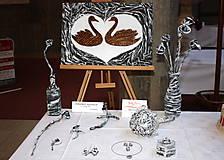 Obrazy - Zaľúbené ľabute zo svadobnej kolekcie v štýle shabby chic - 5993922_
