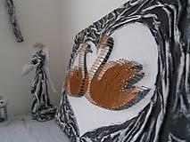 Obrazy - Zaľúbené ľabute zo svadobnej kolekcie v štýle shabby chic - 5993925_