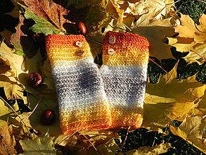Rukavice - Návleky na ruky zlatá jeseň - 5994466_